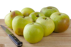 Manzanas de cocinar orgánicas Imagen de archivo libre de regalías