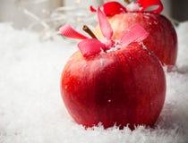 Manzanas de la Navidad Fotografía de archivo libre de regalías