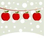 Manzanas de la Navidad Fotos de archivo libres de regalías