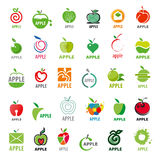 Manzanas de los logotipos de la colección del vector Fotografía de archivo