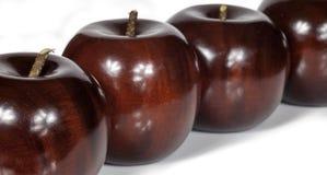 Manzanas de madera Foto de archivo