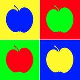 Manzanas del arte Fotos de archivo