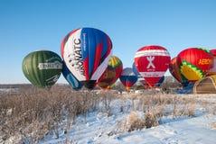 Manzanas del festival en la nieve 2015 Imagen de archivo