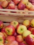 Manzanas del rojo del mercado imagenes de archivo