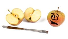 Manzanas divertidas imágenes de archivo libres de regalías