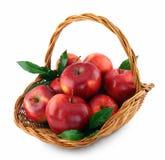 Manzanas en cesta, Imagen de archivo libre de regalías