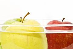 Manzanas en el agua Fotos de archivo libres de regalías