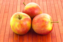 Manzanas en fondo enselvado Imagen de archivo libre de regalías