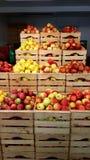 Manzanas en rectángulo Fotografía de archivo