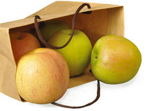 Manzanas en un conjunto de papel Imágenes de archivo libres de regalías