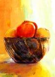 Manzanas en un florero Foto de archivo libre de regalías