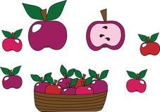 Manzanas en un sistema Foto de archivo libre de regalías