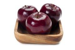 Manzanas en una bandeja Fotos de archivo libres de regalías