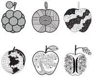 Manzanas estilizadas de los gráficos Foto de archivo