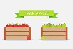 Manzanas frescas Imagen de archivo libre de regalías