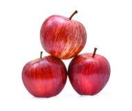 Manzanas frescas de la gala aisladas en el fondo blanco foto de archivo