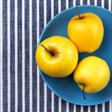 Manzanas 'golden delicious' Fotos de archivo libres de regalías