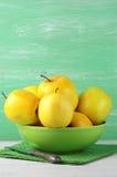 Manzanas 'golden delicious' Imagenes de archivo