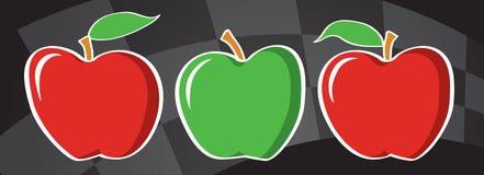 Manzanas a las manzanas Imágenes de archivo libres de regalías