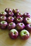 Manzanas maduras quebradizas Imagen de archivo libre de regalías