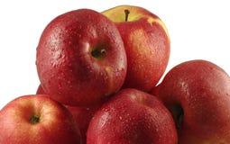 Manzanas maduras, rojas imagen de archivo