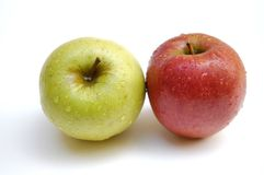 Manzanas mojadas Imagen de archivo libre de regalías