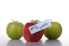 Manzanas para la escuela Imagen de archivo libre de regalías