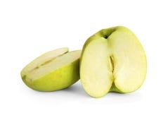 Manzanas rebanadas verde Imagen de archivo