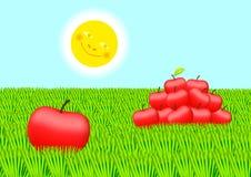 Manzanas rojas ilustración del vector