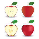 Manzanas rojas, concepto de la fruta Imagen de archivo
