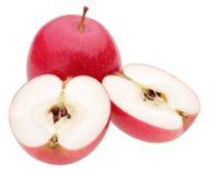 Manzanas rojas en blanco Fotos de archivo libres de regalías