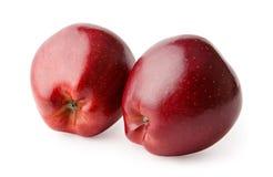 Manzanas rojas frescas aisladas en el fondo blanco Imagen de archivo libre de regalías