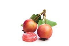 Manzanas rojas salvajes Fotografía de archivo