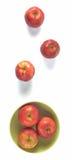 Manzanas rojas, visión superior Foto de archivo