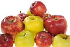 Manzanas rojas y amarillas Foto de archivo