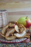 Manzanas secadas Fotografía de archivo