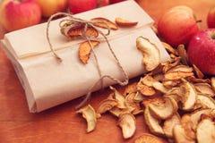 Manzanas secadas Fotos de archivo libres de regalías
