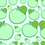 Manzanas verdes inconsútiles Fotografía de archivo