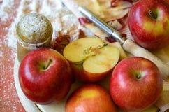 Manzanas y la Navidad Foto de archivo libre de regalías