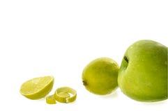 Manzanas y limones Imagen de archivo