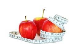 Manzanas y medida fotografía de archivo libre de regalías