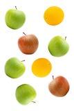 Manzanas y naranja Fotografía de archivo libre de regalías