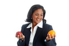 Manzanas y naranjas imagen de archivo