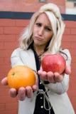 Manzanas y naranjas Fotografía de archivo