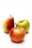 Manzanas y pera Foto de archivo libre de regalías