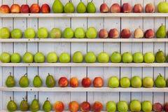 Manzanas y peras Fotos de archivo libres de regalías