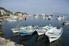 Manzanillo. Fishing boats in the port of Manzanillo, Colima state in Mexico Stock Image