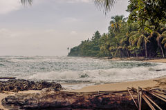 Manzanillo Beach. View of Manzanillo Beach in the Caribbean coast of Costa Rica Royalty Free Stock Photo