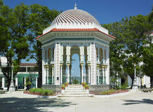 Manzanillo, Cuba. Summer house in Parque Cespedes, Manzanillo, Cuba Royalty Free Stock Photo