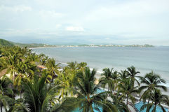 Manzanillo Mexico. Amazing view of the Manzanillo coast line and beach Royalty Free Stock Photography